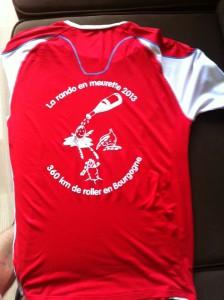 Tshirt de la rando des meurettes en bourgogne, 2014