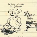 Lenny arrose les plantes