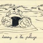 Lenny à la plage