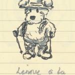 Lenny à la montagne