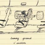 Lenny prend l'avion